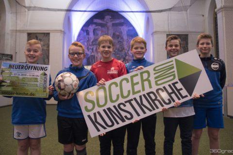 Soccer und Kunstkirche in Wettringen